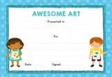 Awesome Art! Certificate