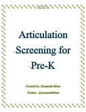 Awesome Articulation Screener For Pre-K