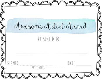 Awesome Artist Award (Blue)
