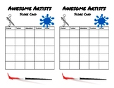 Awesome Artist Score Sheet
