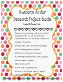 Awesome Author Research Project Bundle - Library Media Center