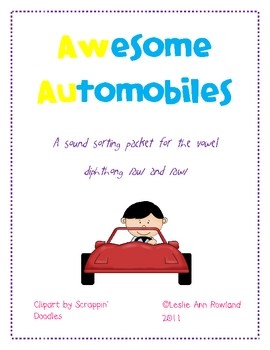 Awesome Automobiles: /aw/ /au/ Sound Sorting Activity