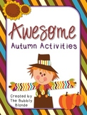 Awesome Autumn Activities~ 8 Literacy Centers