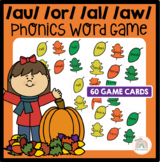 Awesome Autumn! An {aw} {au} {or} {al} Word Work Activity Game