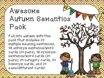 Awesome Autumn Semantics Pack
