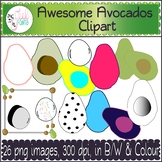 Awesome Avocados Clipart