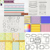 Awesome Big  Seller's Toolkit Bundle Digital Papers, Borders, Frames, and Fonts!