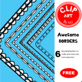 Awesome Borders | Clip Art | FREEBIE!