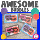 Awesome Bubbles Affirmations and Self-Confidence Activity