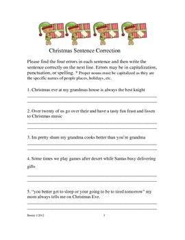 Awesome Christmas Figurative Language & Grammar Bundle (*NO PREP)