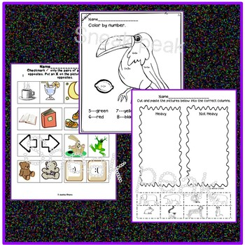 Awesome Emergency Substitute Printables for Early Learners K-1