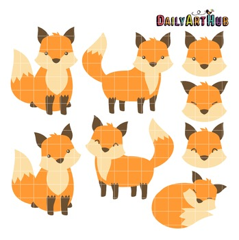 Awesome Fox Clip Art - Great for Art Class Projects!