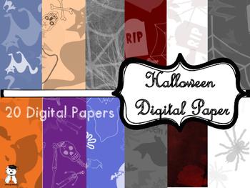 Awesome Halloween Digital Paper - Dollar deal! #Halloween2017