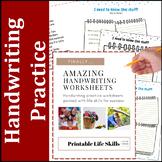 Awesome Handwriting Worksheets: Life Skills and Common Sense