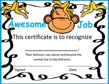Awesome Job Certificate- Color Version