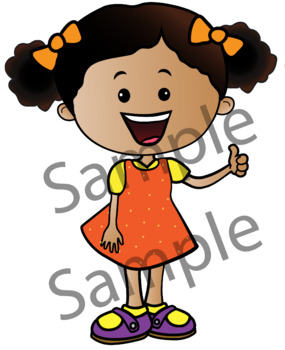 Awesome Kids. Clipart. BLACK AND WHITE & Color Bundle. {Lilly Silly Billy}