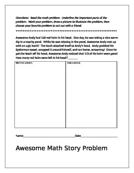 Math Story Problems That Will Make You Smile! (For 1st, 2nd and 3rd Grade)