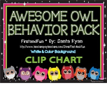 Back to School Owl Behavior Clip Pack