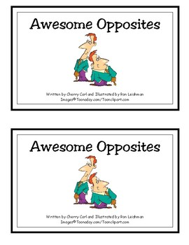 Awesome Opposites Reproducible Reader