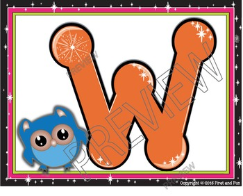 Back to School Owl Welcome Poster Pack