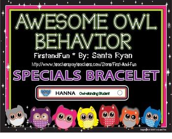 Back to School Owl Behavior Bracelet Pack