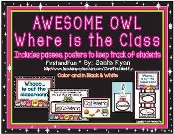 Back to School Owl Chart & Passes to Track Class & Student Pack