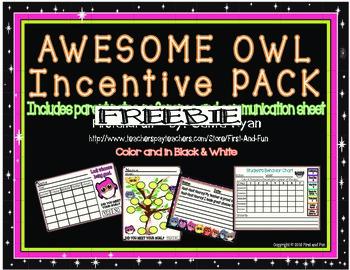 Back to School Owl Incentive Freebie
