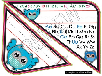 Back to School Owl Name Plate pack