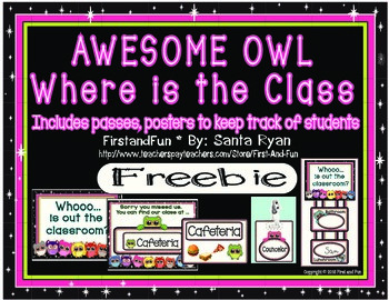 Back to School Owl Track the Class Freebie