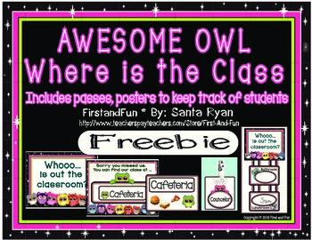 Back to School Owl Track the Class Freebie