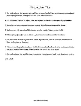 Reader's Theater Grades 4-8