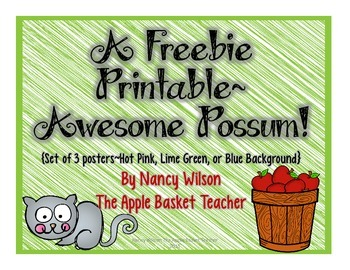 Awesome Possum Printable Poster