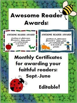 Awesome Reader Awards! (Editable)