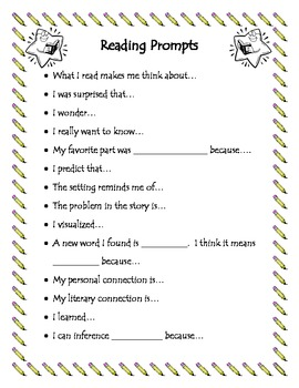 Awesome Reading Journal Prompts