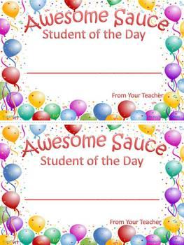 Awesome Sauce Student Award