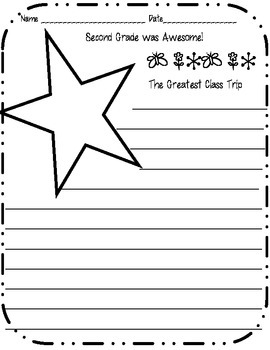 Awesome Second Grade Memory Book - End of Year Writing