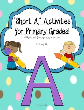 """Awesome """"Short A"""" Activities for Primary Grades!"""