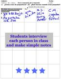 Imperfect tense, imperfecto Spanish Interview activity: Cuando era pequeño