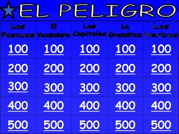 Awesome Spanish Jeopardy Game / Culture, Grammar, & Vocabulary