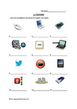 Awesome Spanish Technology Vocabulary & Activities Unit / Tecnologia