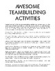 Awesome Teambuilding Activities
