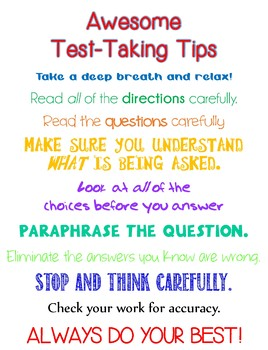 Awesome Test-Taking Tips
