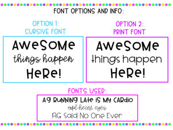Awesome Things Happen Here | Door Display | Awesome Things Classroom Display