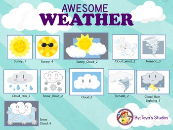 Awesome Weather- Weather .PNG and Animated Cliparts