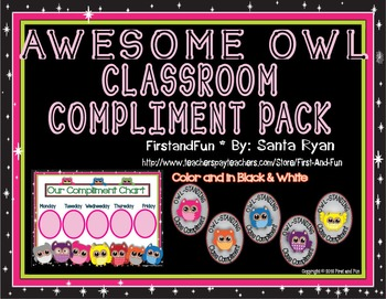 Back to School Owl Whole Class Behavior Chart