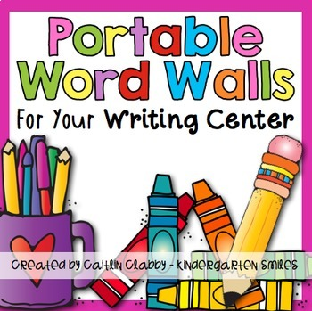 Writing Center {Portable Word Walls}