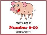 Number 0-10 Worksheets
