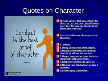 Awesome ppt. Lesson on Character!