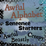 Awful Alphabet - Spooky Writing Challenges & Halloween Display Materials