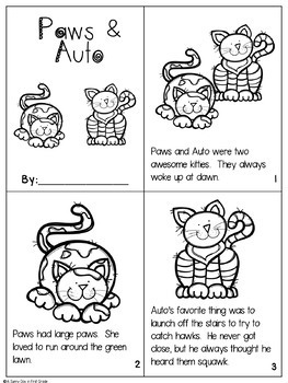 Aww!  It's Paws & Auto! {au, aw activity pack!}